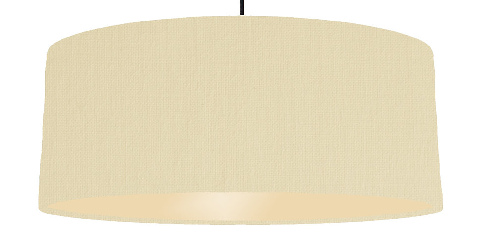 Natural & Ivory Lampshade - 70cm Wide