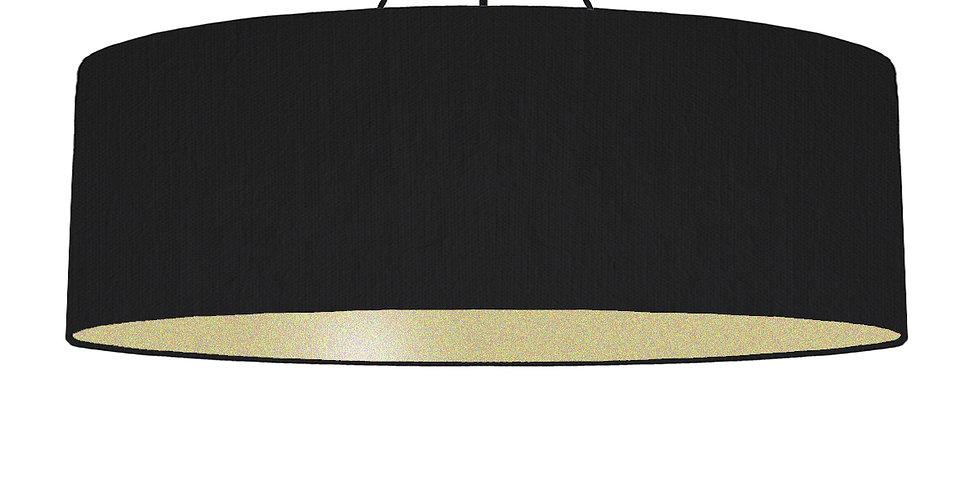 Black & Gold Matt Lampshade - 100cm Wide