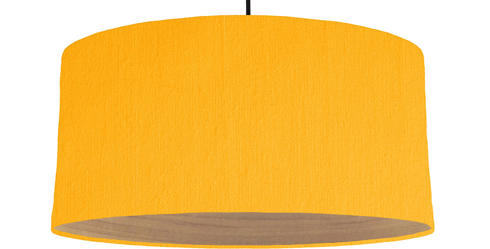 Sunshine & Wooden Lined Lampshade - 60cm Wide