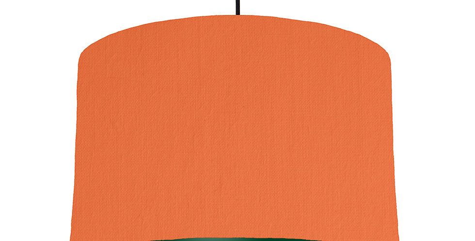 Orange & Forest Green Lampshade - 40cm Wide
