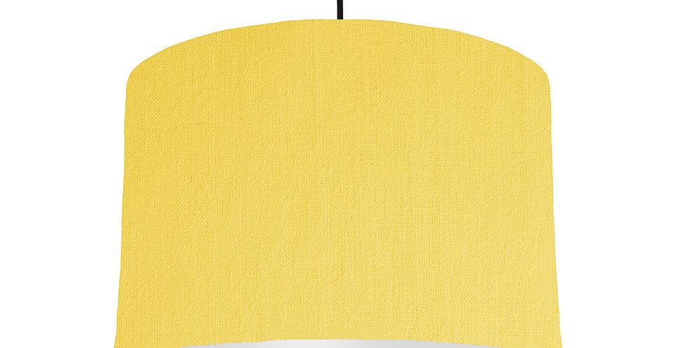 Lemon & Light Grey Lampshade - 30cm Wide