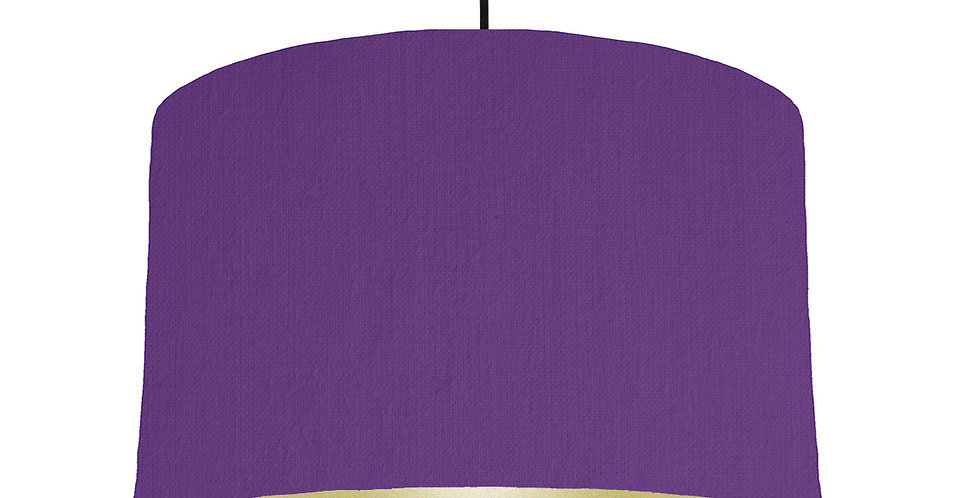 Violet & Gold Lampshade - 40cm Wide