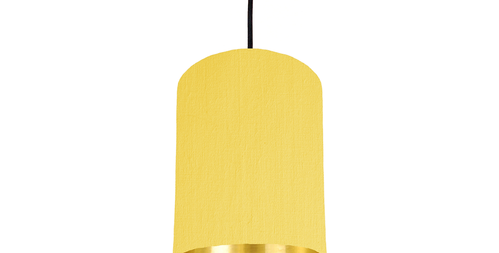 Lemon & Gold Mirrored Lampshade - 15cm Wide