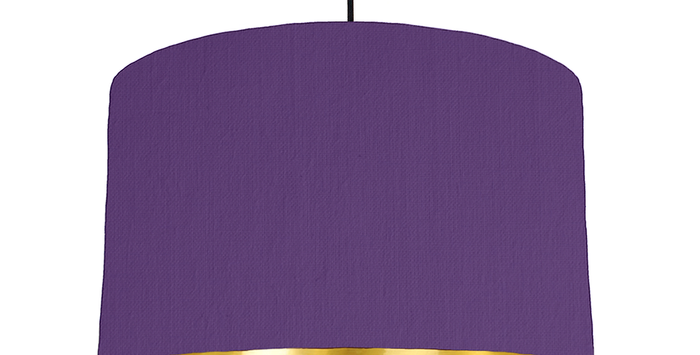 Violet & Gold Mirrored Lampshade - 40cm Wide