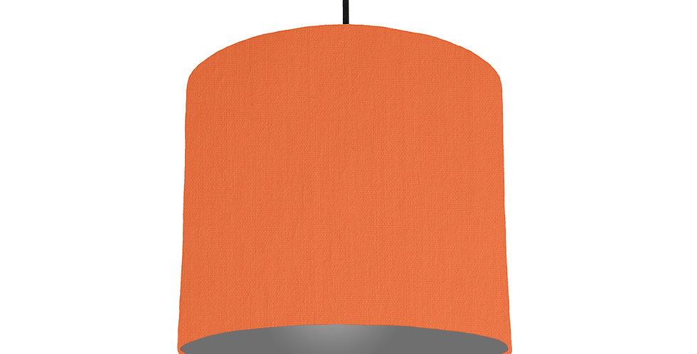 Orange & Dark Grey Lampshade - 25cm Wide