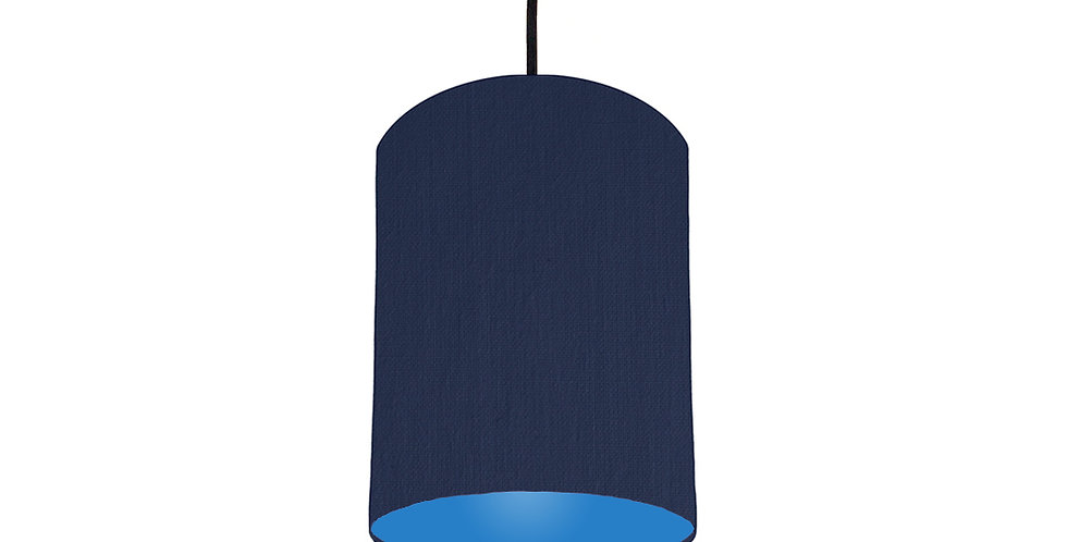 Navy Blue & Bright Blue Lampshade - 15cm Wide