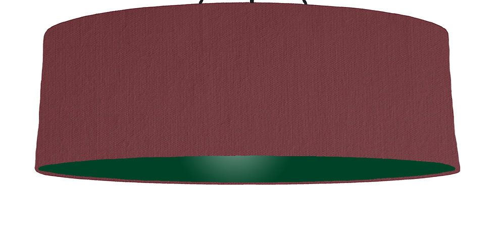 Wine Red & Forest Green Lampshade - 100cm Wide