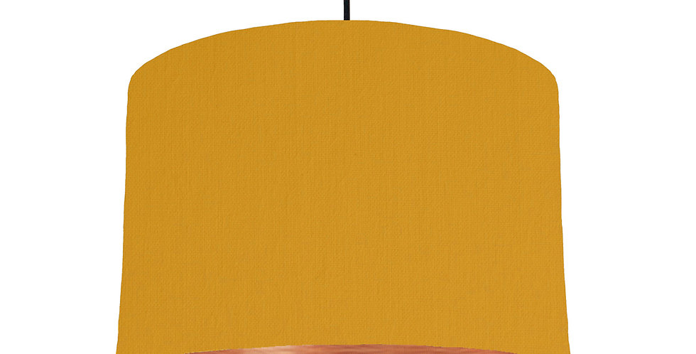 Mustard & Brushed Copper Lampshade - 30cm Wide