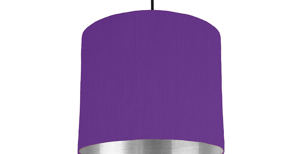 Violet & Silver Mirrored Lampshade - 25cm Wide