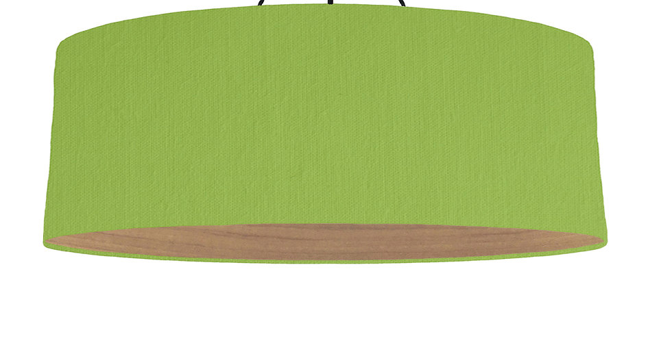 Pistachio & Wooden Lined Lampshade - 100cm Wide
