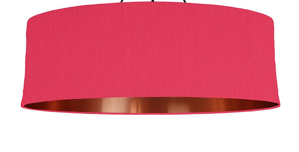 Cerise & Copper Mirrored Lampshade - 100cm Wide