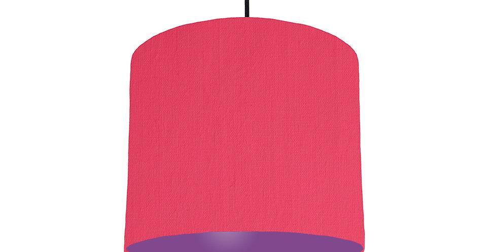 Cerise & Purple Lampshade - 25cm Wide