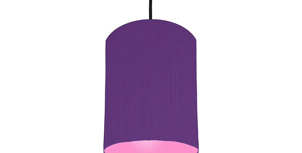 Violet & Pink Lampshade - 15cm Wide