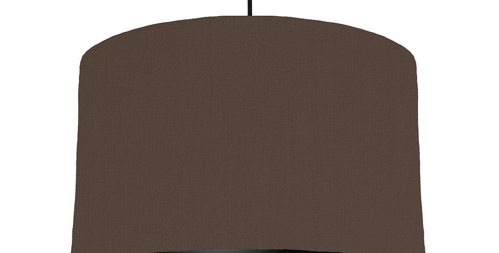 Brown & Black Lampshade - 40cm Wide