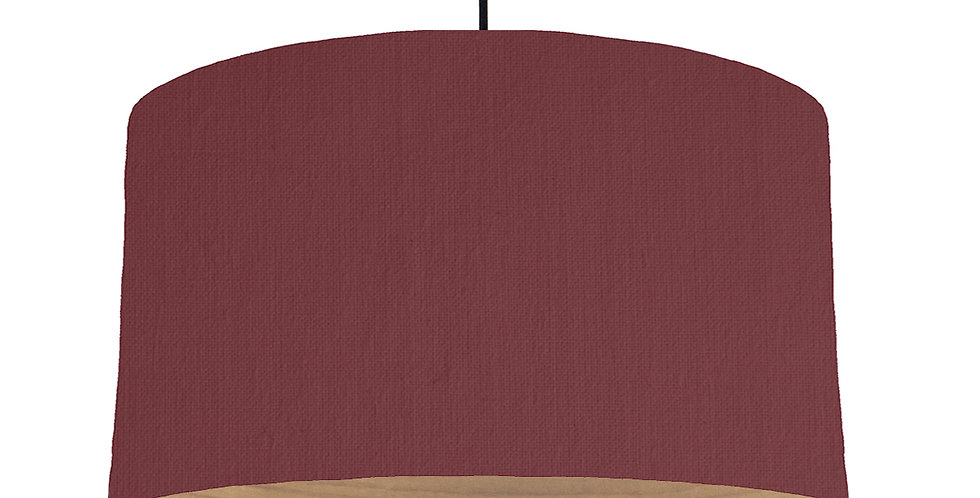 Wine Red & Wooden Lined Lampshade - 50cm Wide