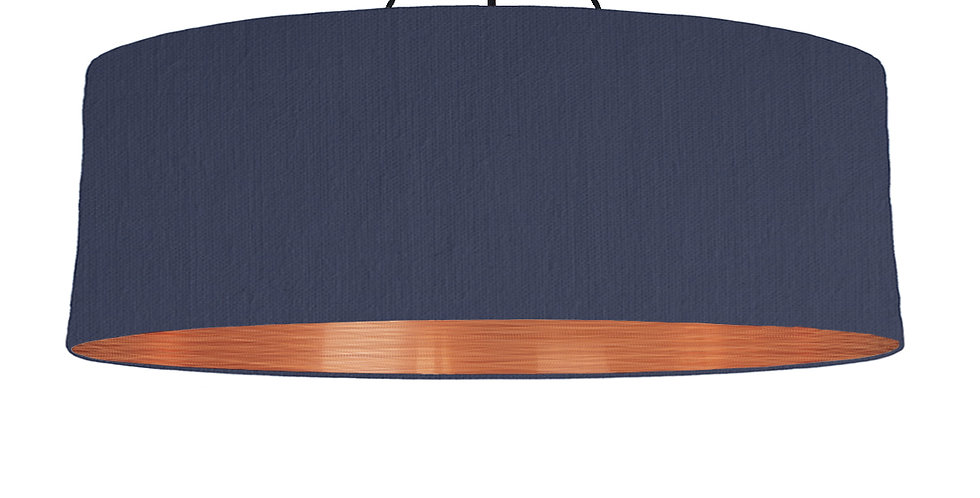 Navy & Brushed Copper Lampshade - 100cm Wide