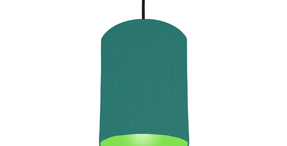 Jade & Lime Green Lampshade - 15cm Wide