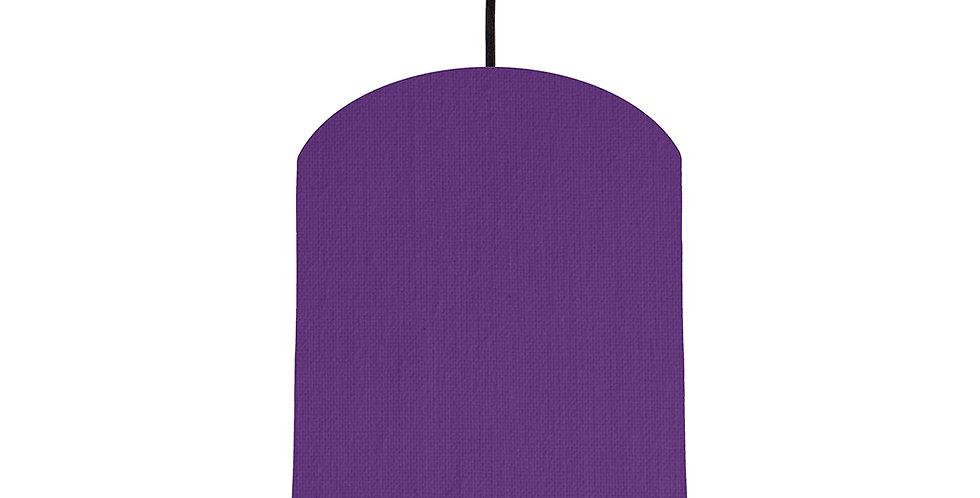 Violet & Brushed Copper Lampshade - 20cm Wide