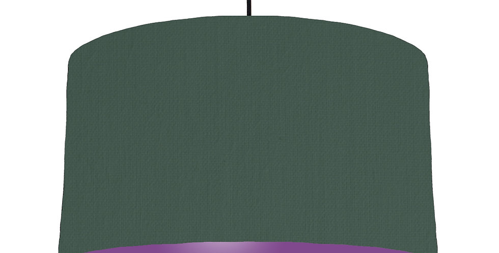Bottle Green & Purple Lampshade - 50cm Wide
