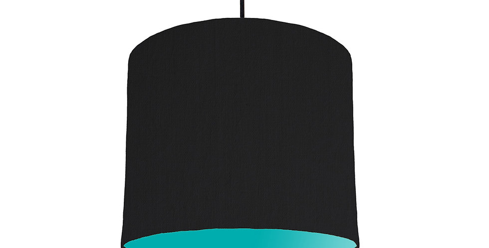Black & Turquoise Lampshade - 25cm Wide