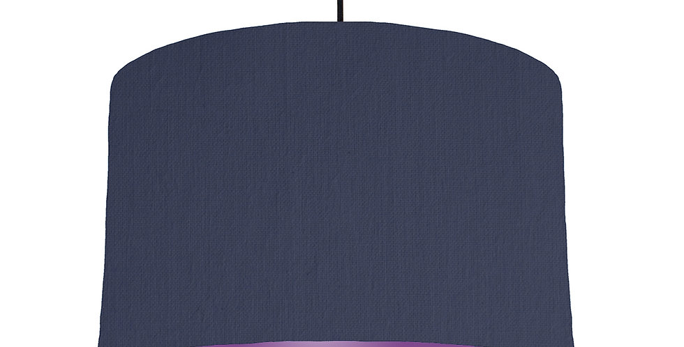 Navy Blue & Purple Lampshade - 40cm Wide