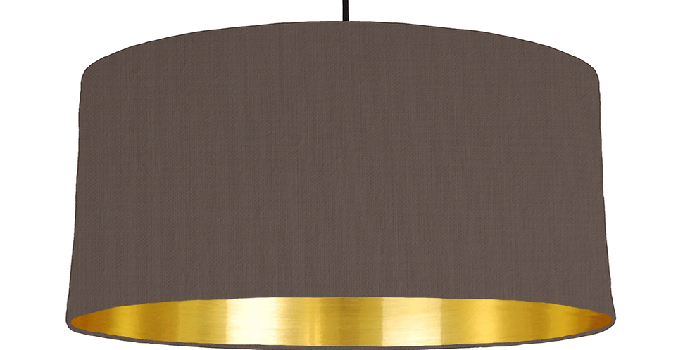 Brown & Gold Mirrored Lampshade - 60cm Wide