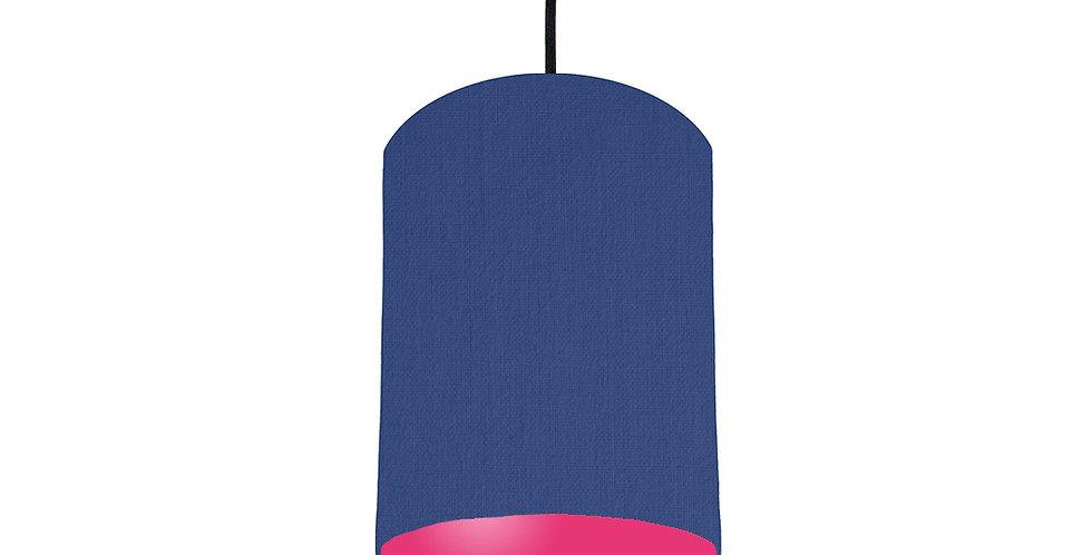 Royal Blue & Magenta Pink Lampshade - 15cm Wide