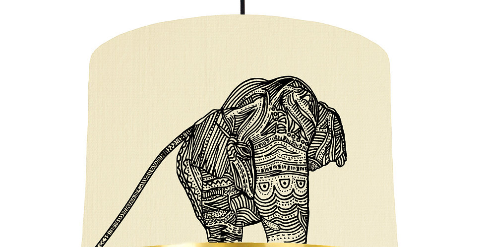 Elephant - Natural & Gold Mirror