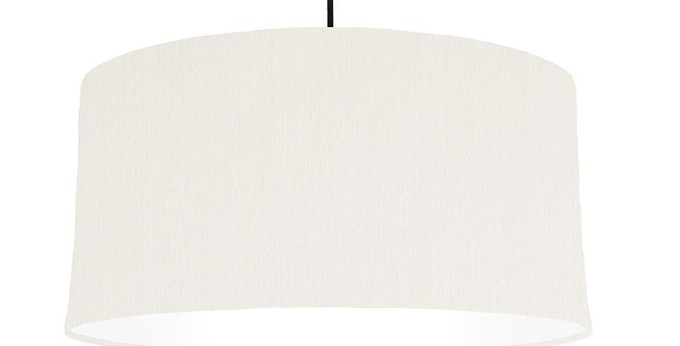 White & White Lampshade - 60cm Wide
