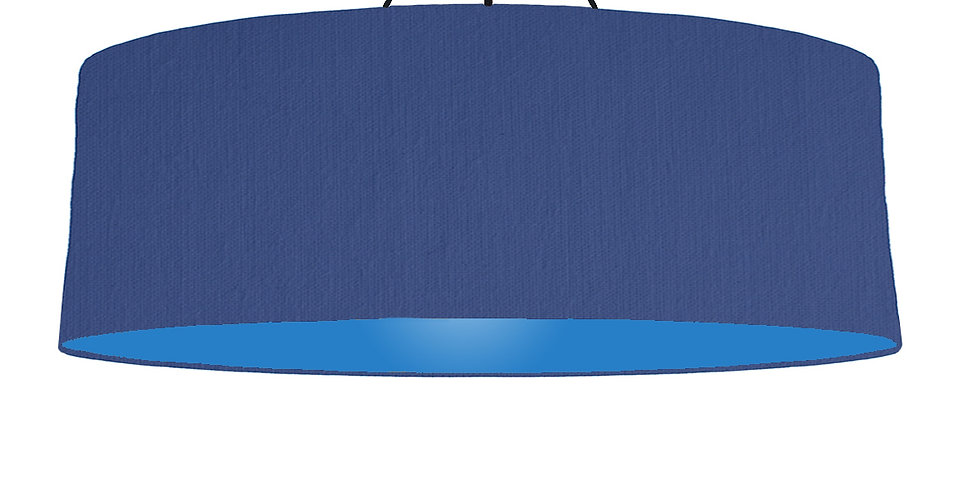 Royal Blue & Bright Blue Lampshade - 100cm Wide