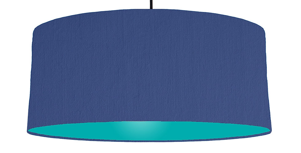 Royal Blue & Turquoise Lampshade - 70cm Wide