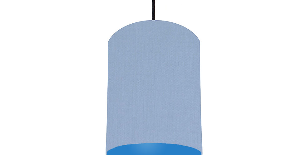 Sky Blue & Bright Blue Lampshade - 15cm Wide