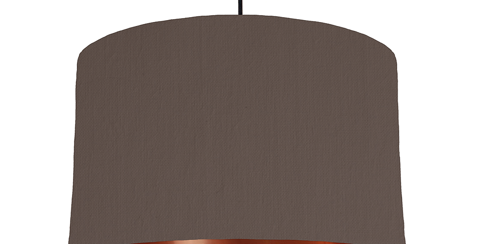 Brown & Copper Mirrored Lampshade - 40cm Wide