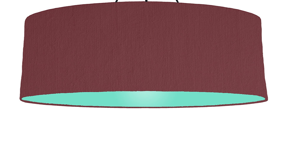 Wine Red & Mint Lampshade - 100cm Wide