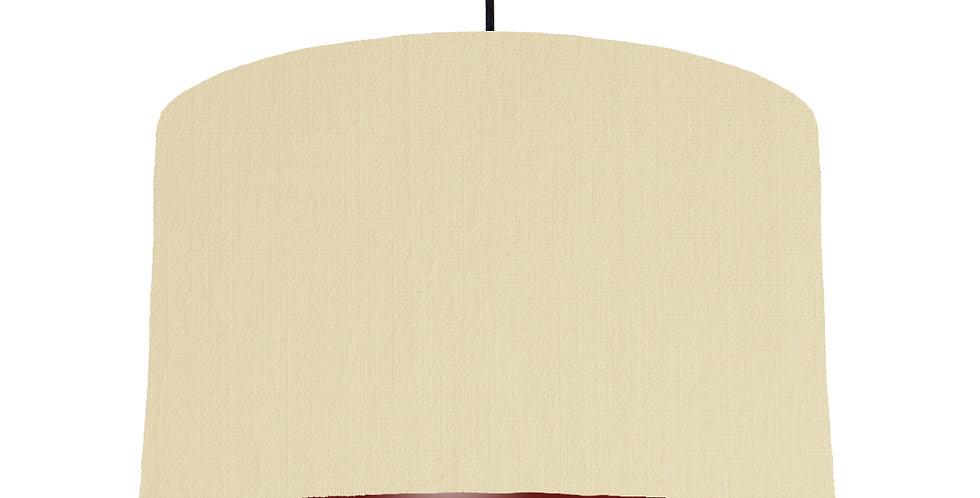 Natural & Burgundy Lampshade - 40cm Wide