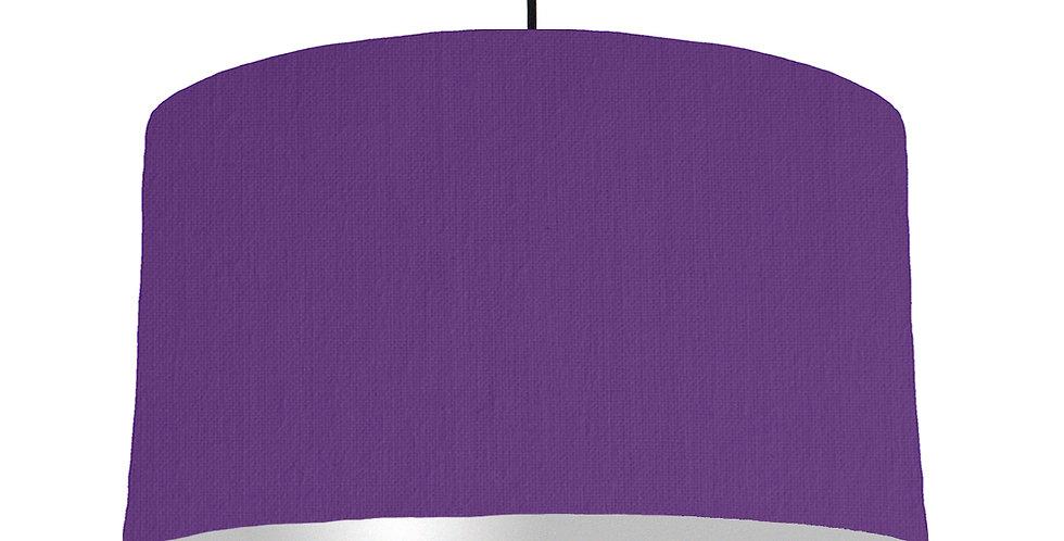 Violet & Silver Matt Lampshade - 50cm Wide