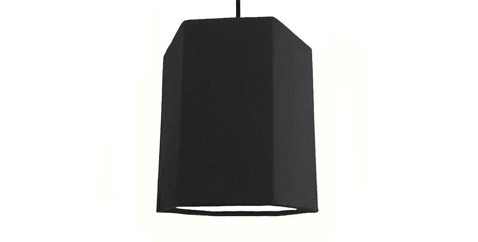 Black & White Hexagon Lampshade - 15cm Wide