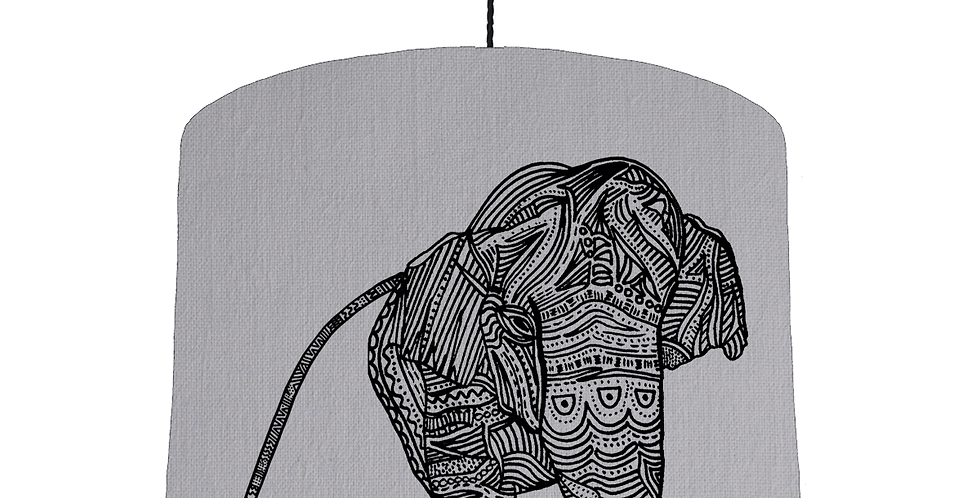 Elephant Shade - Light Grey Fabric