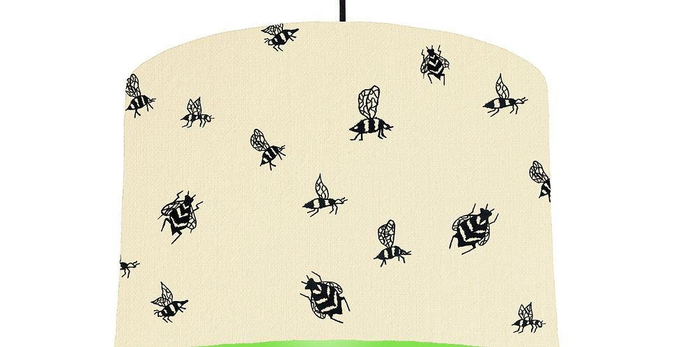 Bumble Bee Lampshade - Natural & Lime Green