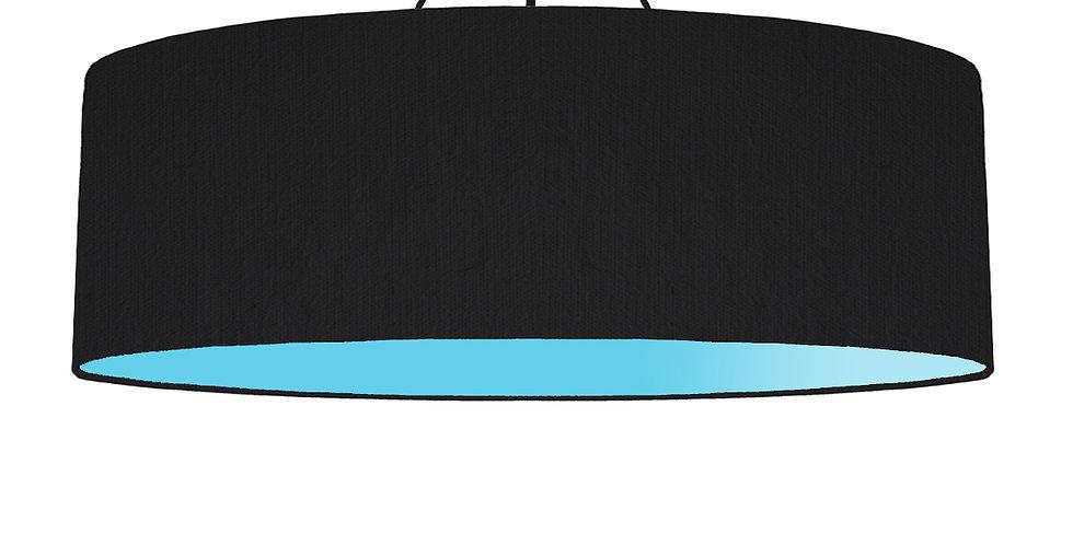 Black & Light Blue Lampshade - 100cm Wide