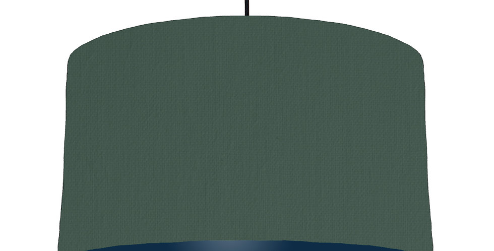 Bottle Green & Navy Lampshade - 50cm Wide
