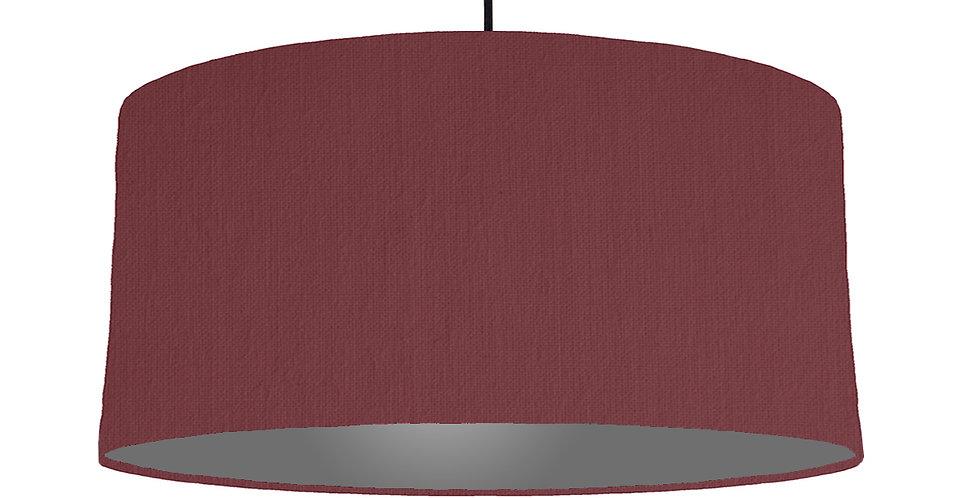 Wine Red & Dark Grey Lampshade - 60cm Wide