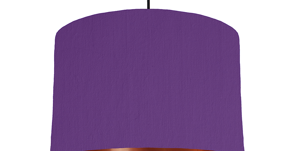 Violet & Copper Mirrored Lampshade - 30cm Wide