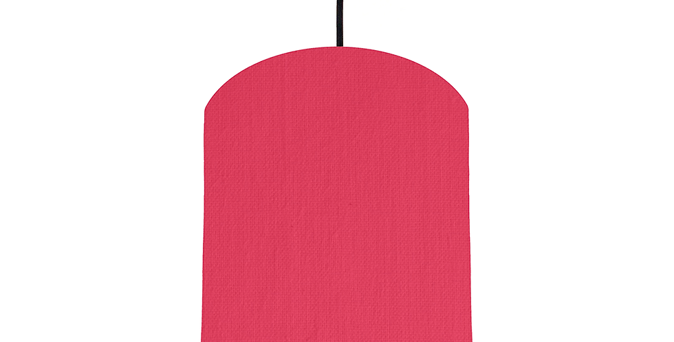 Cerise & Silver Mirrored Lampshade - 20cm Wide