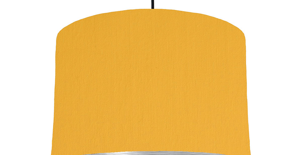 Sunshine & Brushed Silver Lampshade - 30cm Wide