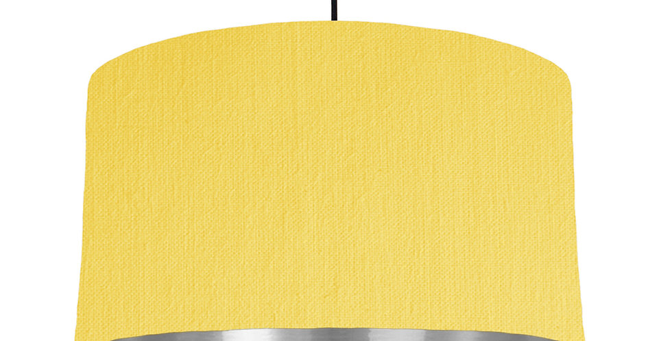 Lemon & Silver Mirrored Lampshade - 50cm Wide