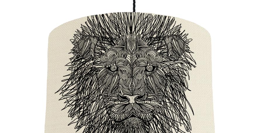 Lion - Natural & Light Blue Lining