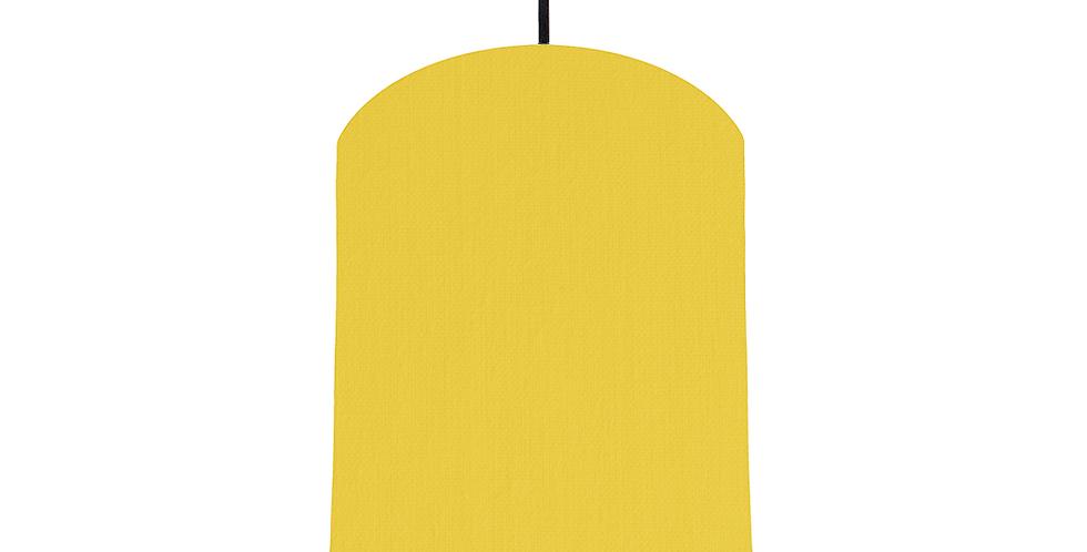 Lemon & White Lampshade - 20cm Wide