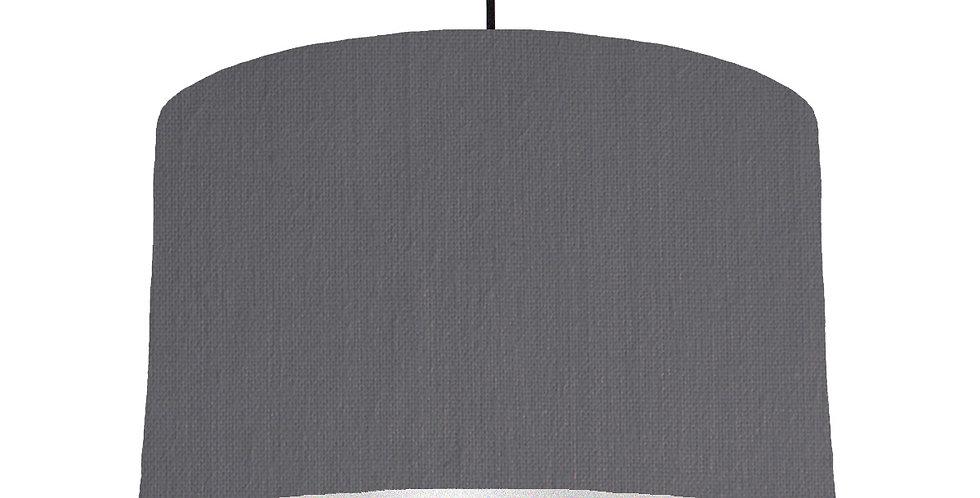 Dark Grey & Silver Lampshade - 40cm Wide