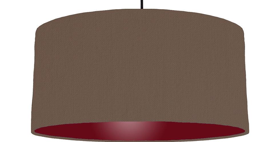 Brown & Burgundy Lampshade - 60cm Wide